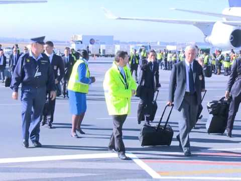 Tight security as world champions Italy arrive in Johannesburg