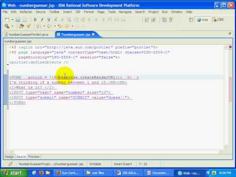 Java Portlet Development w IRAD for WebSphere Portal Server
