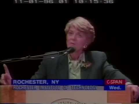 """Geraldine Ferraro/Pat Buchanan Debate '96 """"What is the Role of Federal Government?"""""""