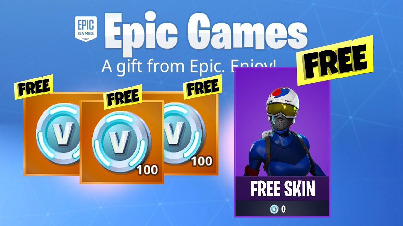 how to get free fortnite holiday skin and vbucks new youtube