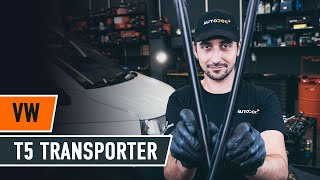 How to change wipers blades VW T5 TRANSPORTER Van [TUTORIAL AUTODOC]