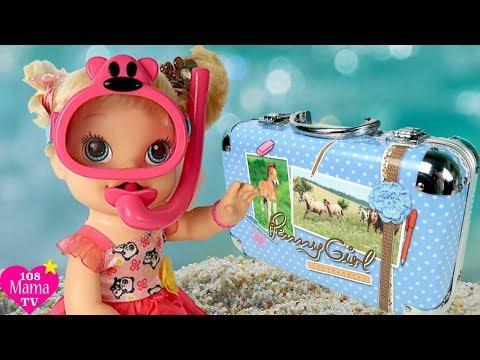 Кукла Пупсик Собирает Чемодан На Море Игры Для девочек Игрушки