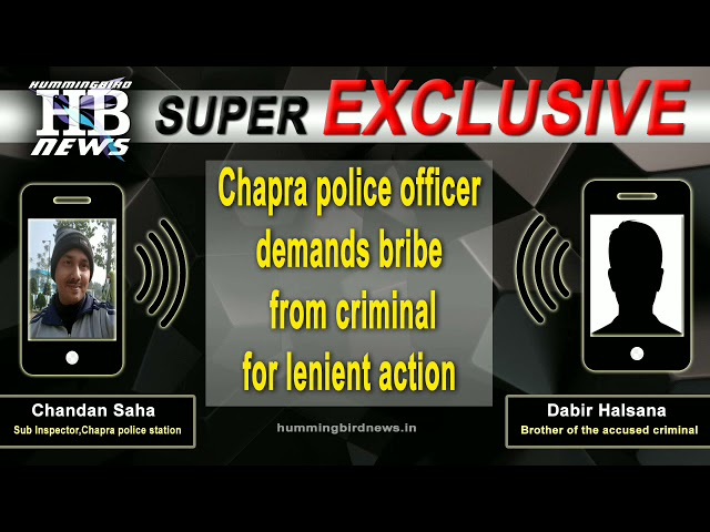 Watch: How Chapra police officer demanded bribe from a criminal for lenient action.