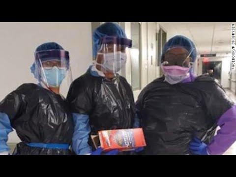 US Nurses Lacking Proper Protection Wearing Garbage Bags