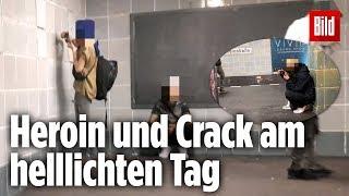 Hier werden harte Drogen öffentlich konsumiert | Berliner U-Bahn-Station Schönleinstraße