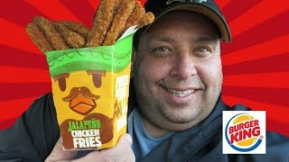 BURGER KING®New Jalapeño Chicken Fries REVIEW!
