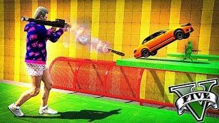 RPG vs CARROS BLINDADOS, MEGA DIFÍCIL - GTA V
