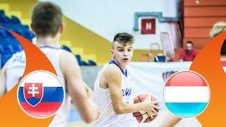 Slovakia v Luxembourg - CL 17-24 - Full Game - FIBA U16 European Championship Division B 2018 thumbnail