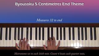 Byousoku 5 Centimetre End Theme Piano Tutorial