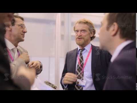 Russia, Novosibirsk, 2015: Solid men in suits talking business event