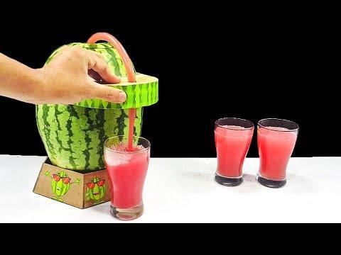 How to Make Watermelon Juice From 12v Air Pump & Hardboard (Juice Dispenser) At Home 'DIY | M SAQIB