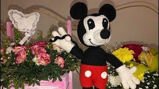 Вязаный Микки Маус крючком 🌻🐝