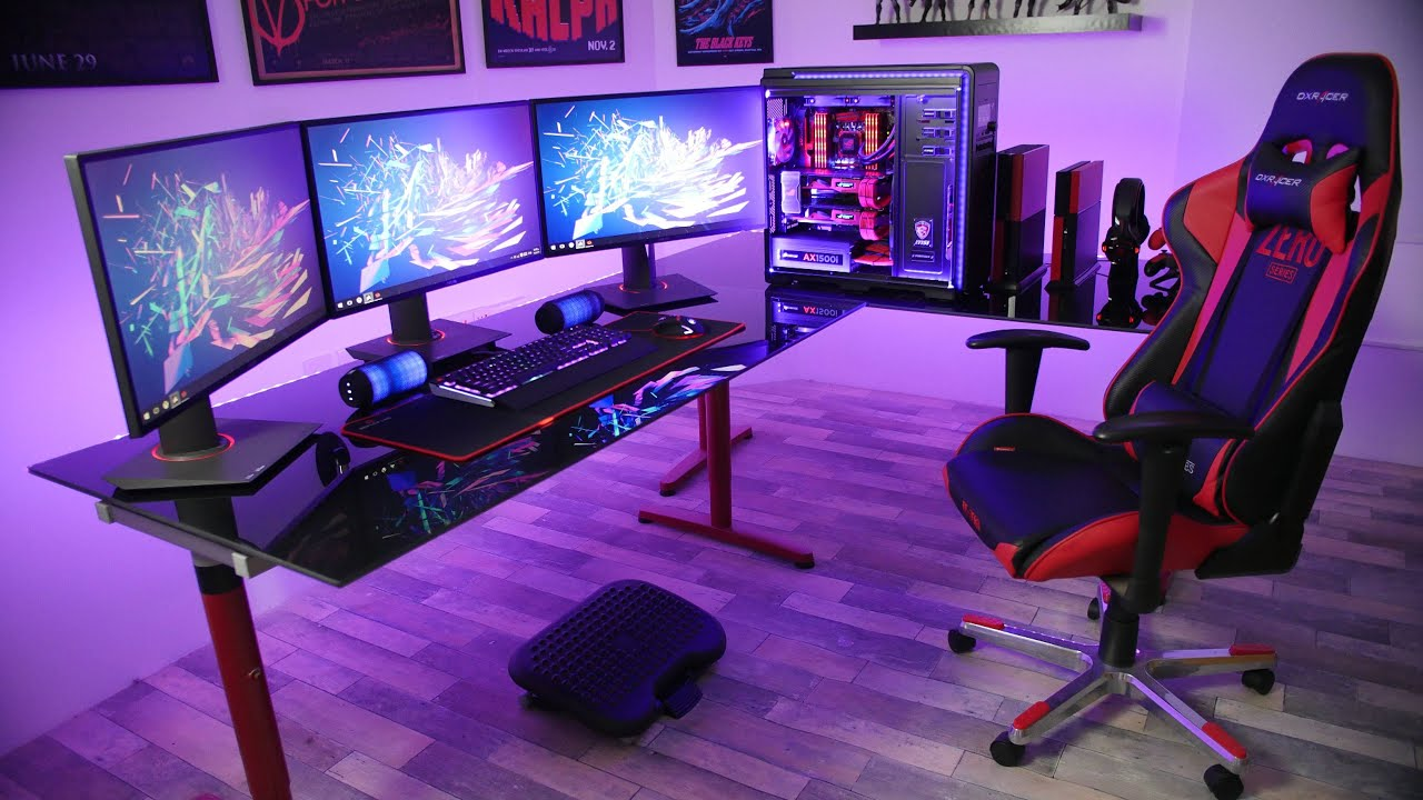 Image Result For Gaming Desk Setup