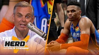 Colin Cowherd feels for Russ as game 'moves away' from him, talks Lakers HC rumors | NBA | THE HERD