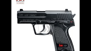 Unboxing Airsoft Pistol Heckler HK USP Compact Heavy Weight Part.1