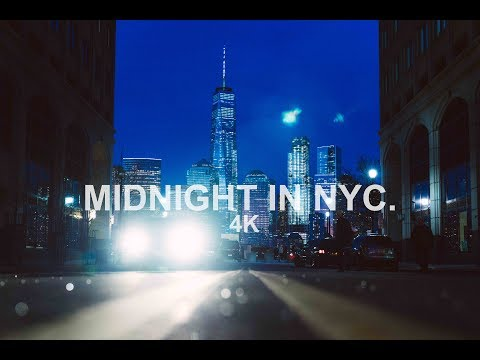 Midnight In New York City. | 4K