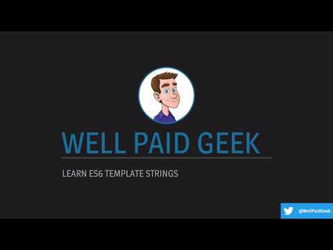 New Video Learn ES6 template strings  learnjavascript