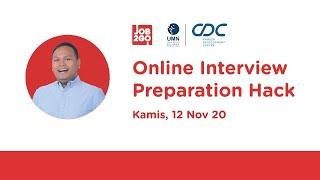 Job2Go x UMN Career Day Webinar - Online Interview Preparation Hack