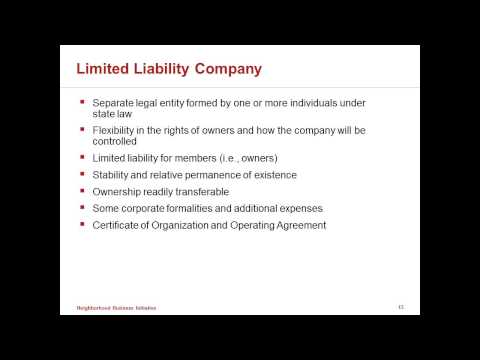 Choosing a Legal Entity for your Business