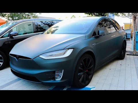 Thumbnail: Jeffree Stars Murdered out Tesla Model X!!