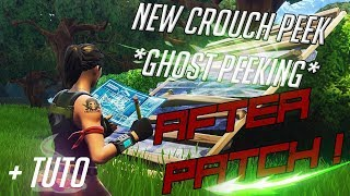HOW TO CROUCH PEEK AFTER PATCH + HOW TO DO IT EASY ! Fortnite Battle Royle