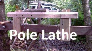 Pole Lathe Outdoor Workshop