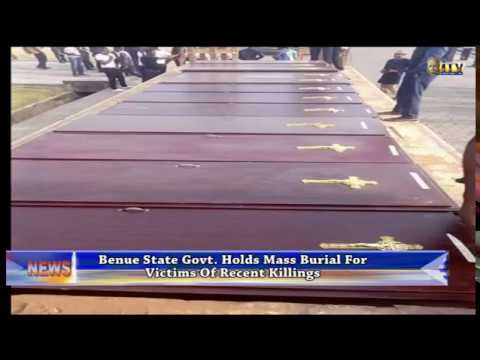 Govt. holds mass burial for victors of Benue killings