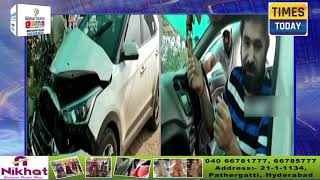 Comedian Chinti Injured In A road Accident At Surya Pet