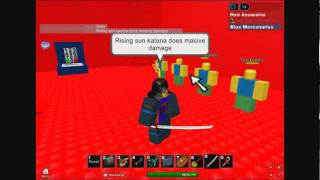 ROBLOX Rising Sun Katana Test.(Episde 1 Of GEAR TEST BNB)