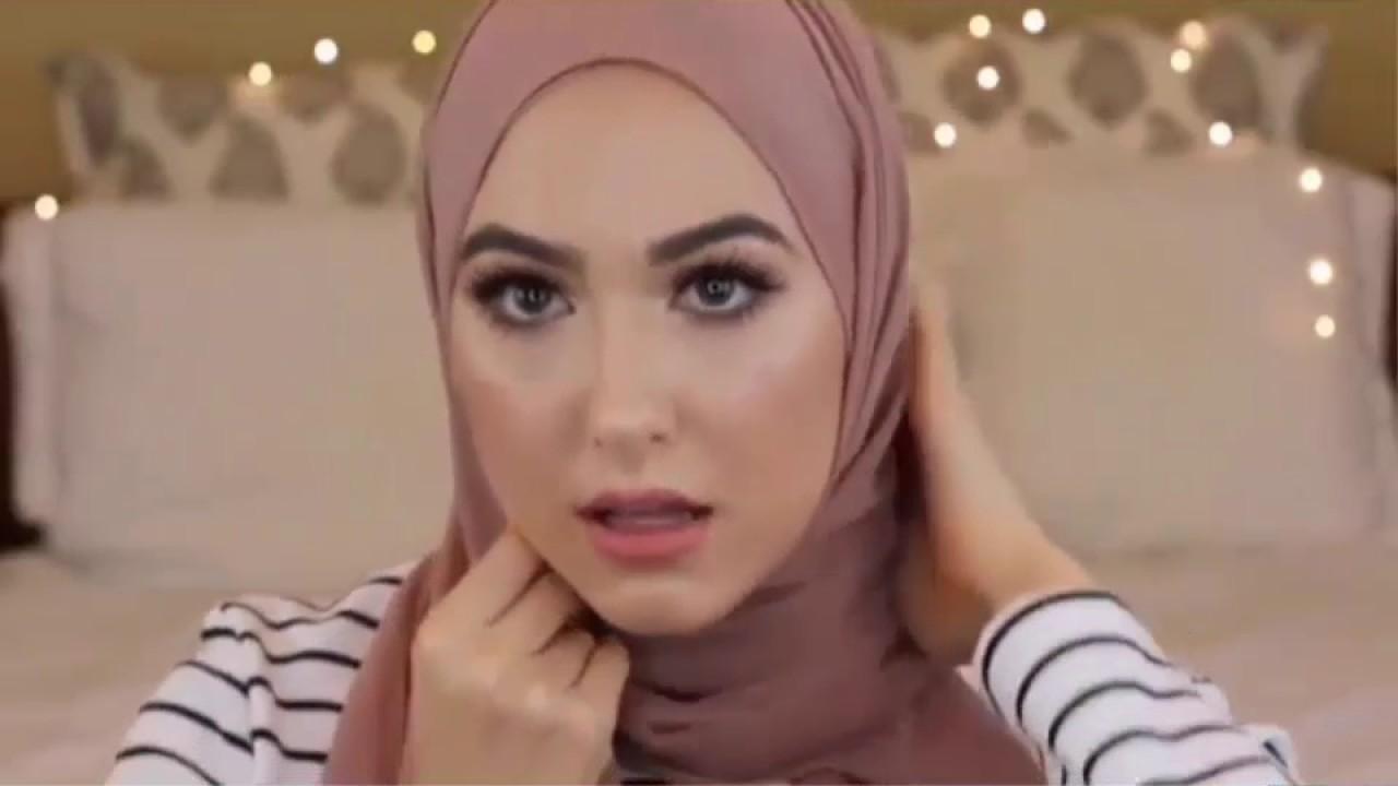 لفة حجاب للوجه الدائري