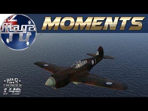 War Thunder - Moments: P-40, I-153P, Boomerang - Realistic Battle