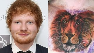 Ed Sheeran Gets Crazy, Chest-Covering Lion Tattoo