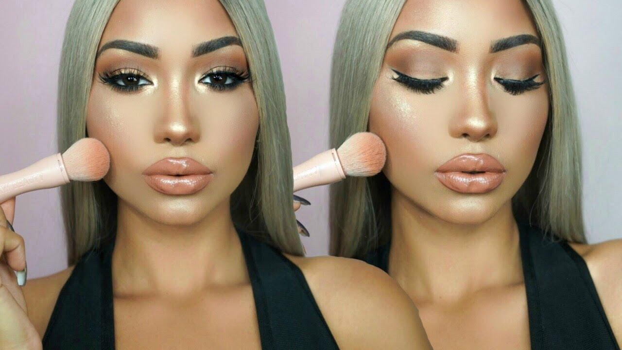 Easy Kim Kardashian Makeup Tutorial Kkw Beauty Powder