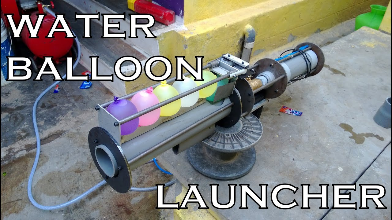 Water Balloon Launcher Homemade The Best Of Its Kind Youtube
