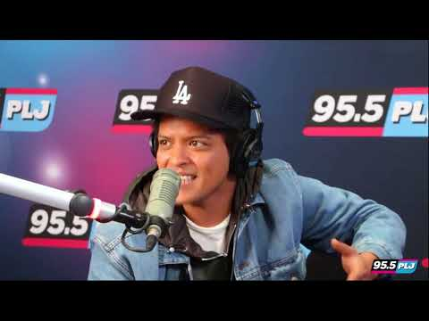 Bruno Mars laid back banter with NYC hosts about 24K Magic LIVE @ WPLJ 99.5 fm talk radio 2016