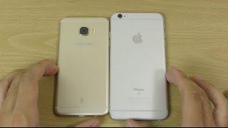Samsung Galaxy C5 vs Apple iPhone 6S Plus - Speed Test! (4K)