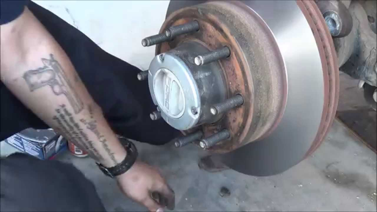 ford superduty front brake replacement 2008 and up [ 1280 x 720 Pixel ]
