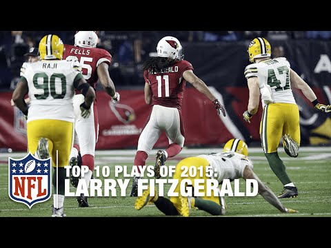 Top 10 Larry Fitzgerald Highlights of 2015 | NFL