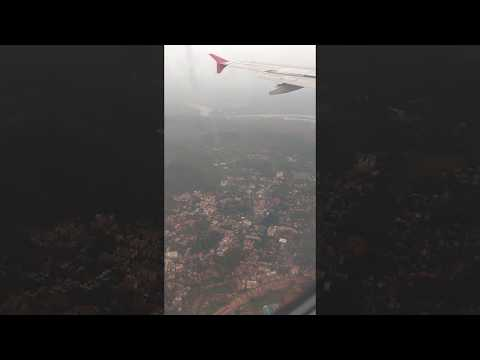 Goa Airport Area looks from Air before landing , covering complete Goa From Air