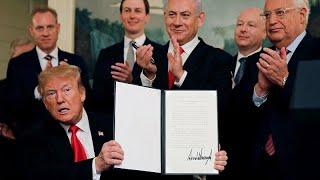 Golan: Trump erkennt Israels Souveränität an