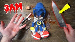(WHAT'S INSIDE?) CUTTING OPEN METAL SONIC.EXE DOLL AT 3AM!! *POSSESSED METAL SONIC DOLL*