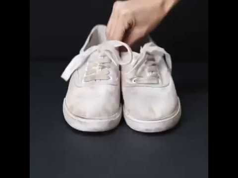 HACK TO CLEAN WHITE SHOES
