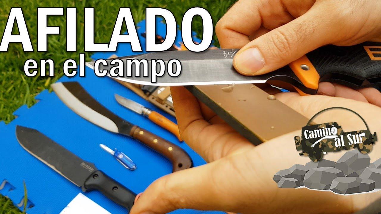 AFILADO a mano en el CAMPO | Fallkniven DC4 - Victorinox Sharpener - Afilador - Piedra - Diamante