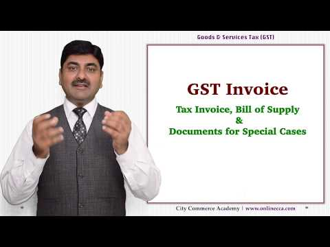 GST Invoice Rules and Format. Tax Invoice, Bill of Supply, R