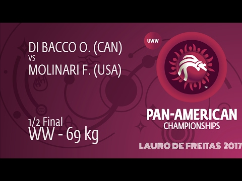1/2 WW - 69 kg: O. DI BACCO (CAN) df. F. MOLINARI (USA), 12-3