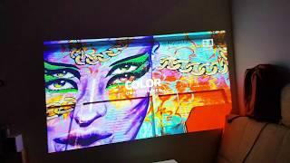 Как показывает лазерный проектор Xiaomi mi Laser при свете ламп