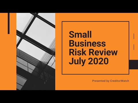 Small Business Risk Review July 2020