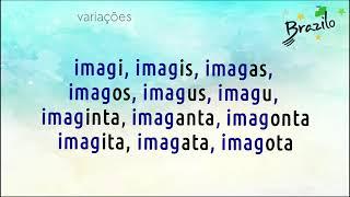 IMAGI verbo em Esperanto