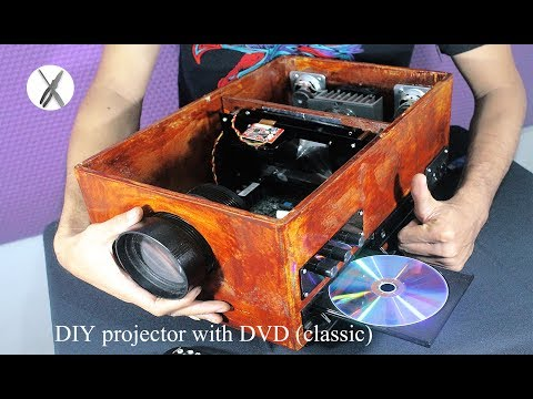 DIY Projector With DVD Player & Car TV Monitors