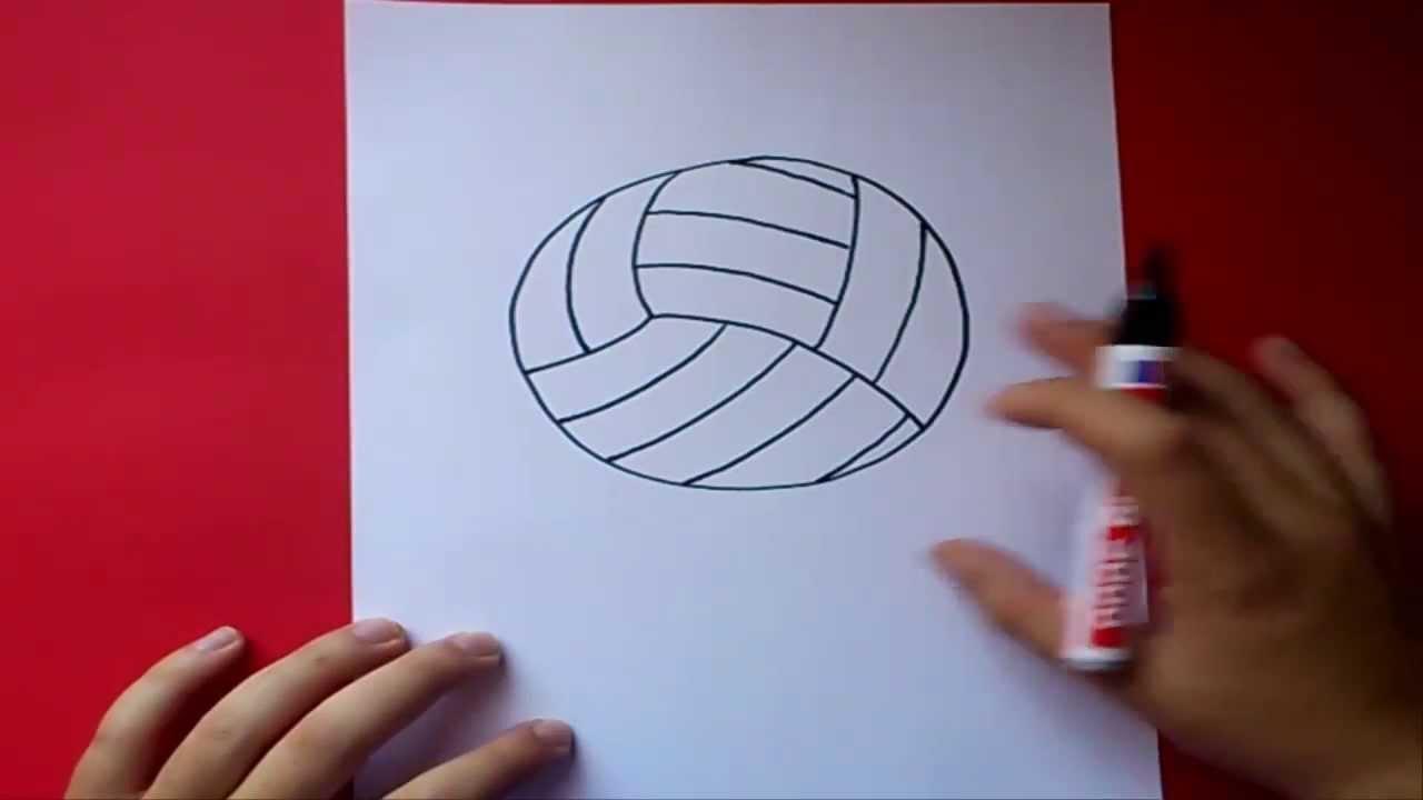 Cómo Dibujar Un Balón De Fútbol Fácil: Como Dibujar Un Balon De Volleyball Paso A Paso